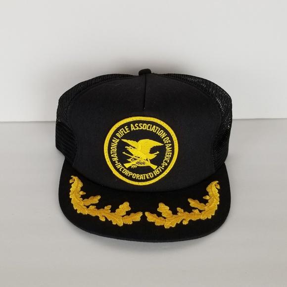 2afa369955b57 K-Products Other - Vtg NRA National Rifle Association Gold Leaf Hat